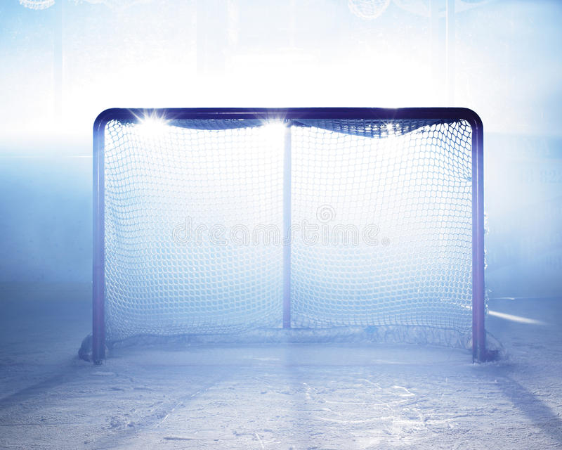 målhockeyis royaltyfri fotografi