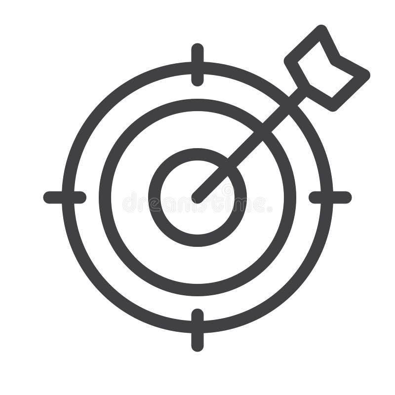 Mållinje symbol royaltyfri illustrationer