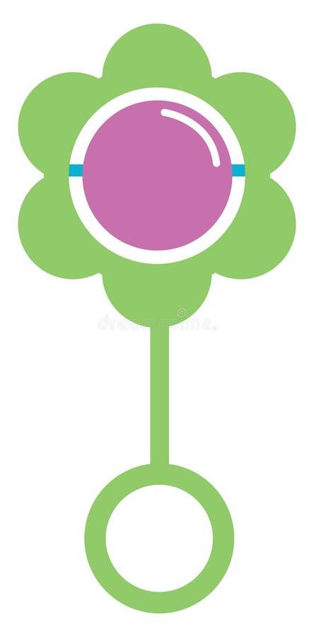 Målning av en färglös leksak för spädbarn/småbarn, leksak för spädbarn, spädbarn, småbarn, stutar, leksaksikon, vektor eller färg royaltyfri illustrationer