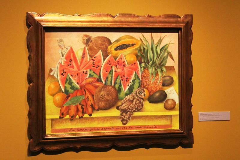 Målning av Frida Kahlo royaltyfria bilder