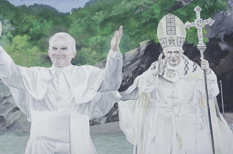 Målning av påven arkivbild