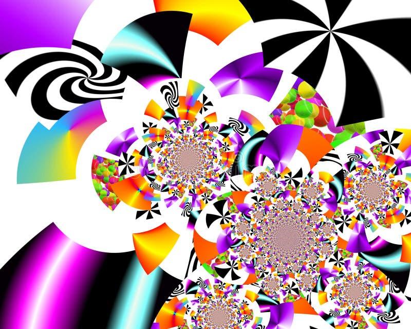 Målning för abstrakt begrepp för Grafik designkonst föreställer färgrik ny konst royaltyfri fotografi