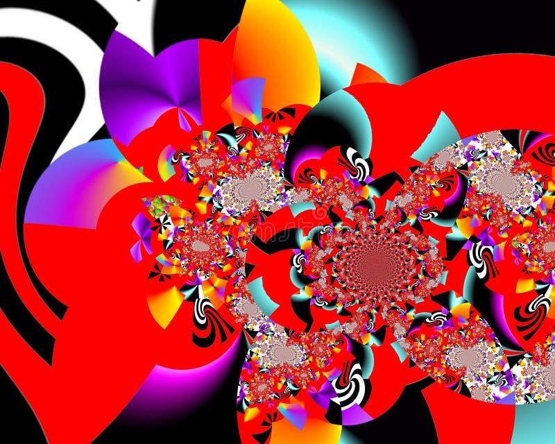Målning för abstrakt begrepp för Grafik designkonst föreställer färgrik ny konst arkivbilder