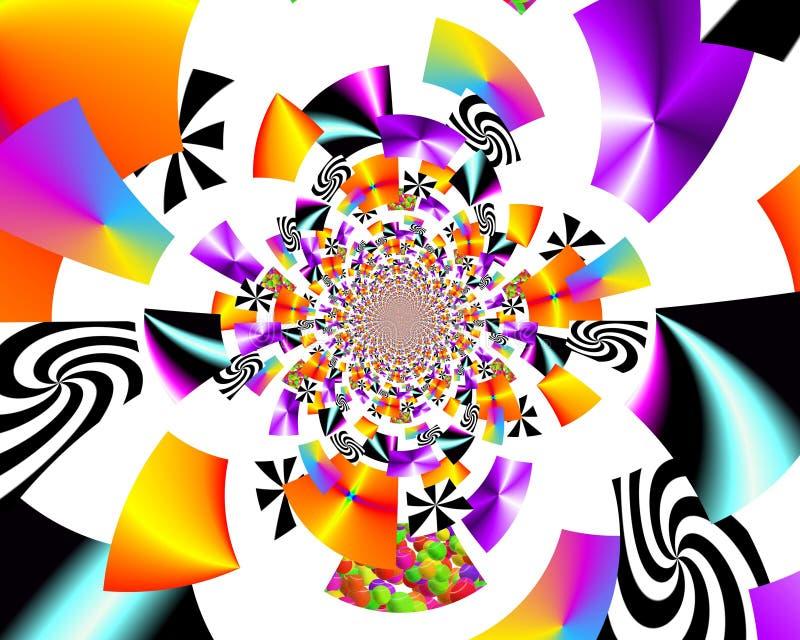 Målning för abstrakt begrepp för Grafik designkonst föreställer färgrik ny konst arkivbild