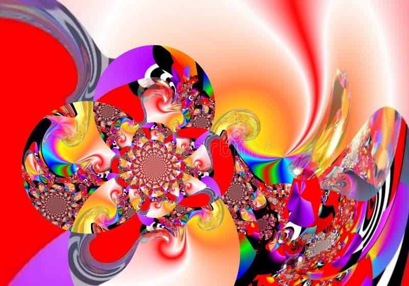 Målning för abstrakt begrepp för Grafik designkonst föreställer färgrik ny konst royaltyfria bilder