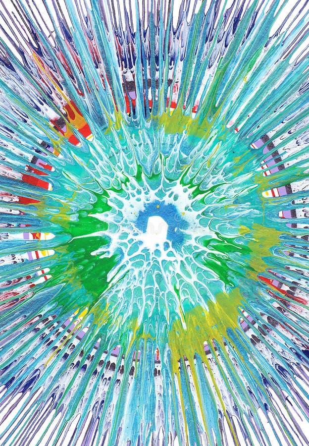 Målning för abstrakt expressionism royaltyfri illustrationer
