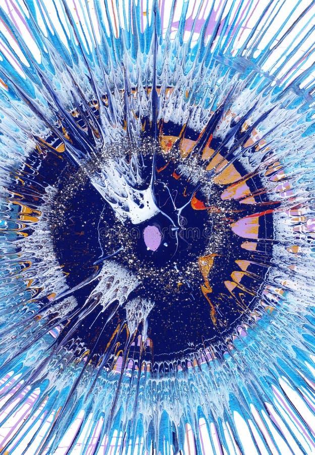 Målning för abstrakt expressionism - dramatisk blått stock illustrationer