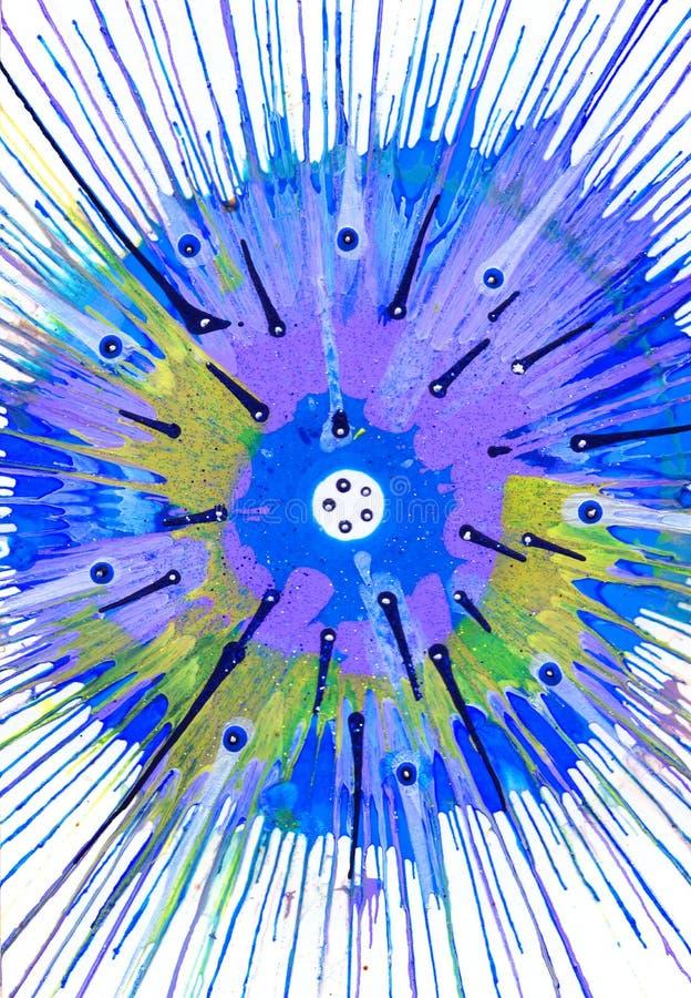 Målning för abstrakt expressionism - fiskögon på royaltyfri illustrationer