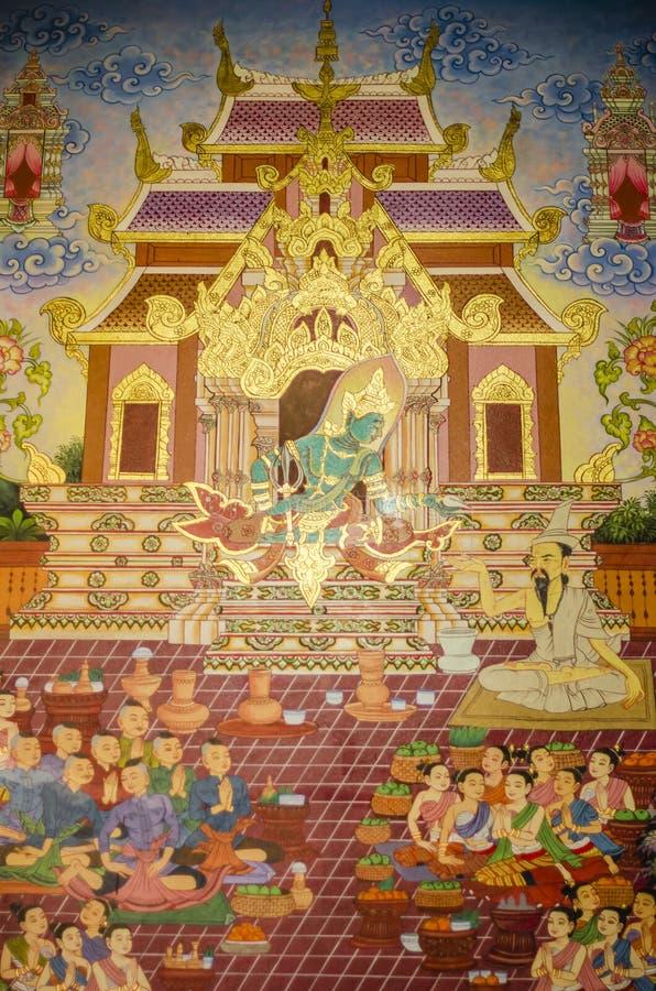 målning thai royaltyfria foton