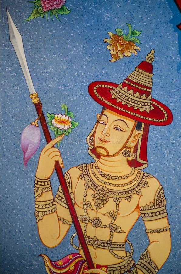 målning thai arkivbilder