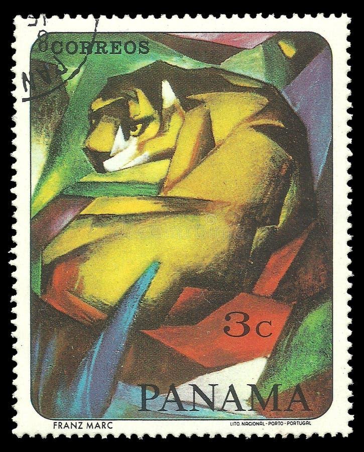 Målning Tiger By Famous Painter royaltyfri foto