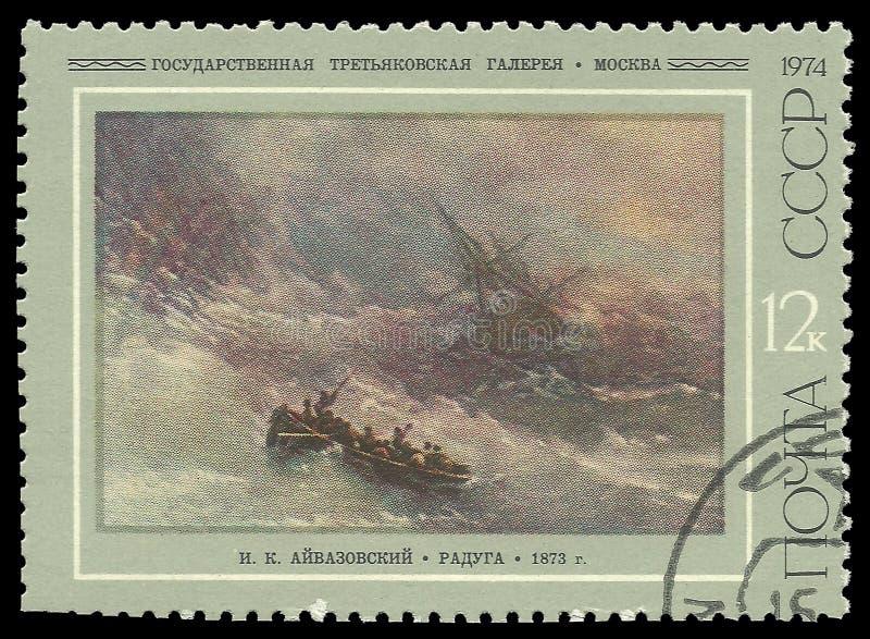 Målningar vid Aivazovsky, regnbåge arkivbild