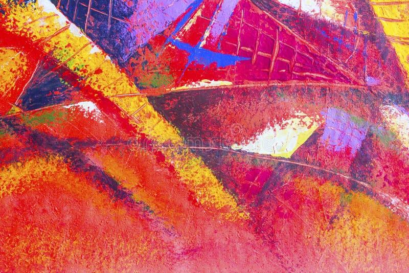 Målningolja och akryl för original färgar abstrakt på kanfas stock illustrationer