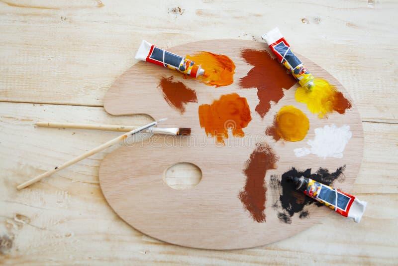 Målningspensel fotografering för bildbyråer