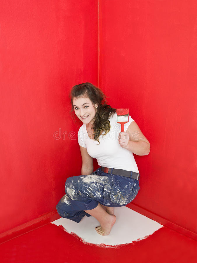målningsproblem royaltyfri foto