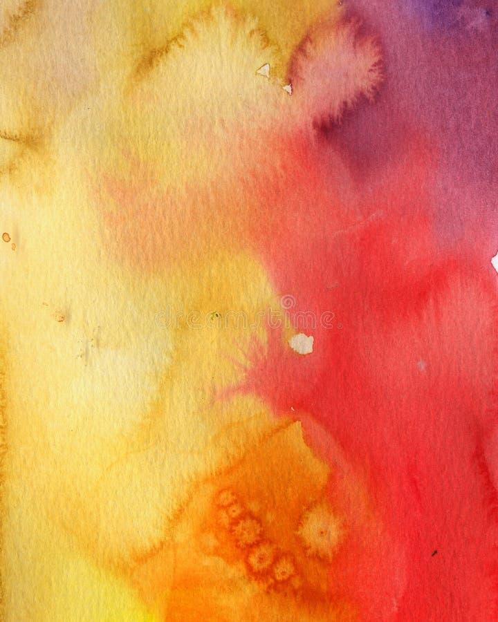 målningsvattenfärg stock illustrationer