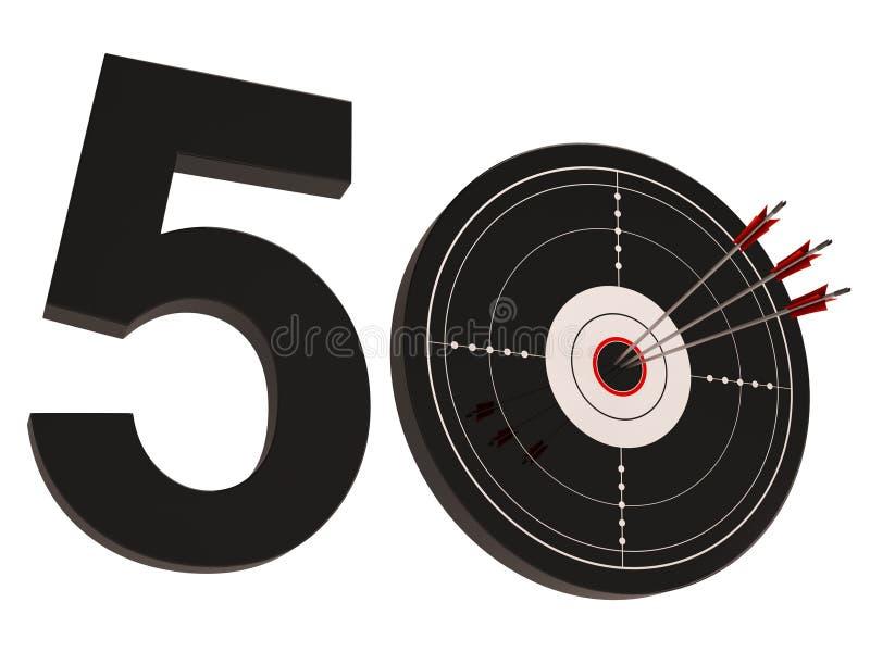 50 målshower nummer femtio royaltyfri illustrationer