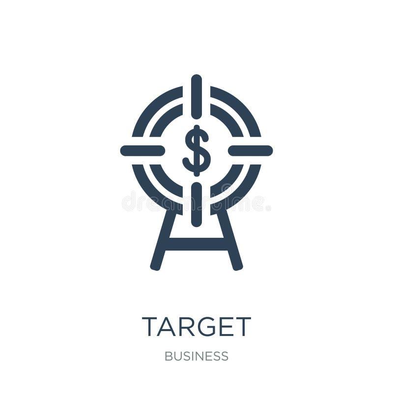 målsymbol i moderiktig designstil Målsymbol som isoleras på vit bakgrund enkelt och modernt plant symbol för målvektorsymbol för royaltyfri illustrationer
