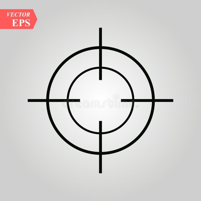 Målsymbol i moderiktig plan stil som isoleras på vit bakgrund Symbol för din webbplatsdesign, logo, app, UI också vektor för core stock illustrationer