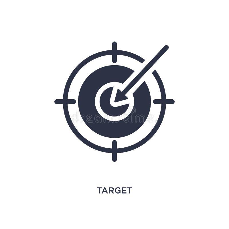 målsymbol på vit bakgrund Enkel beståndsdelillustration från strategibegrepp royaltyfri illustrationer