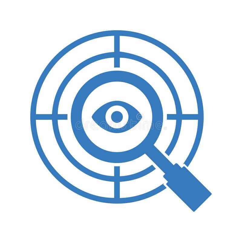 Målsymbol/pilsymbol stock illustrationer