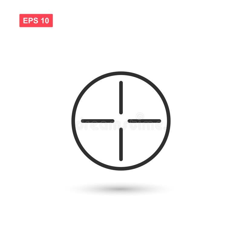 Målsymbolsvektorn isolerade 6 royaltyfria bilder