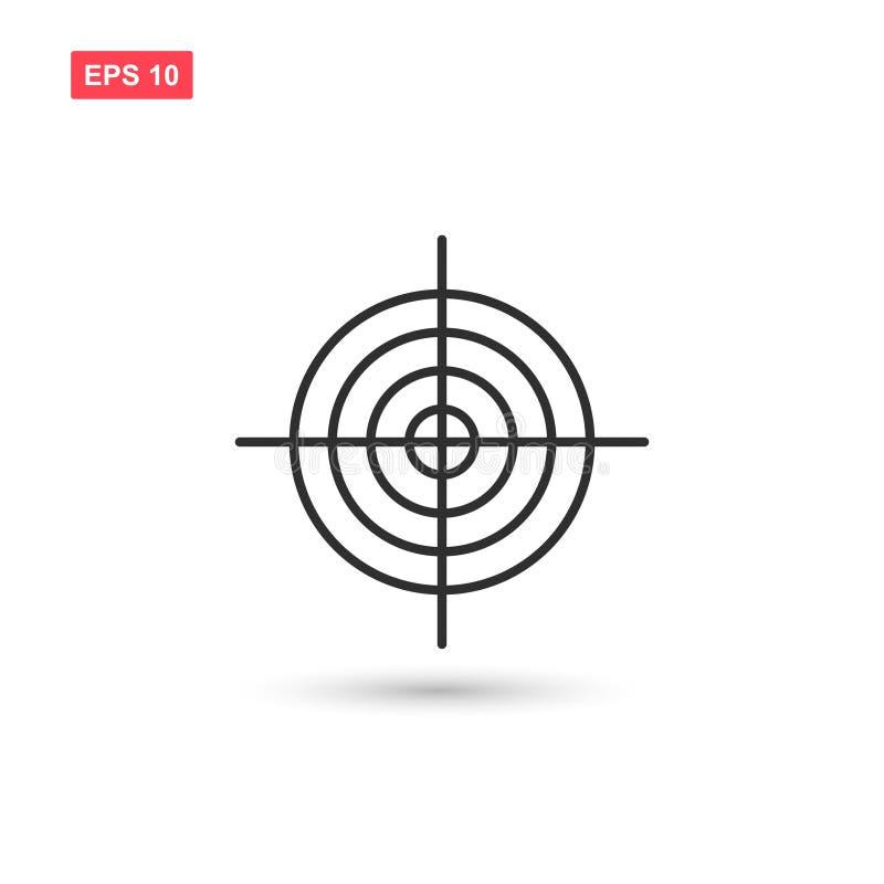 Målsymbolsvektorn isolerade 5 royaltyfria foton