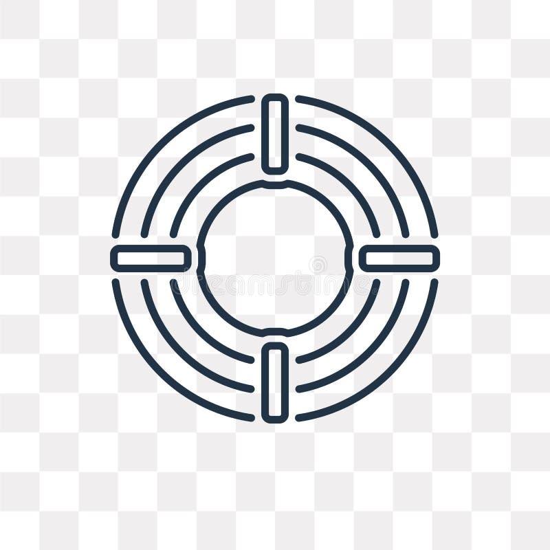 Målvektorsymbol som isoleras på genomskinlig bakgrund, linjär Ta royaltyfri illustrationer