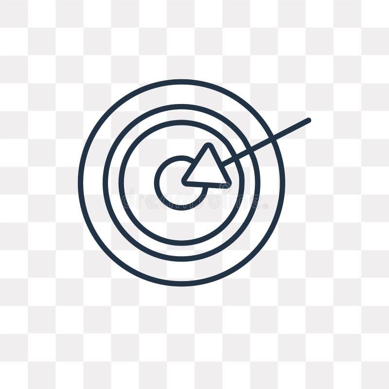 Målvektorsymbol som isoleras på genomskinlig bakgrund, linjär Ta vektor illustrationer