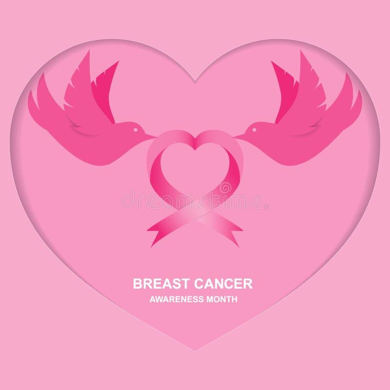 Månad av belysningbröstcancer vektor illustrationer