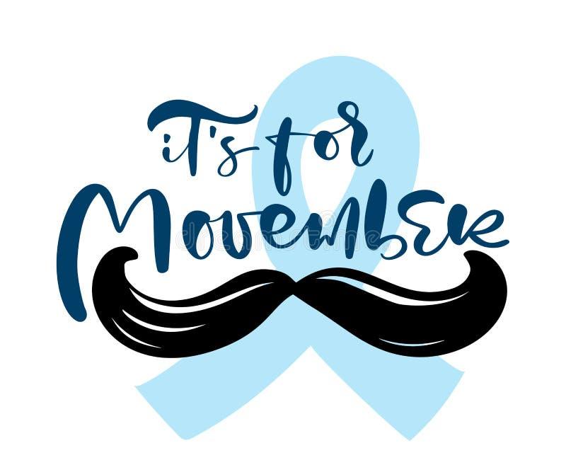 Månad för ökad medvetenhet om cancer Begreppet mäns hälsa band och mustasch Bra för affisch, banderoll, kort vektor illustrationer