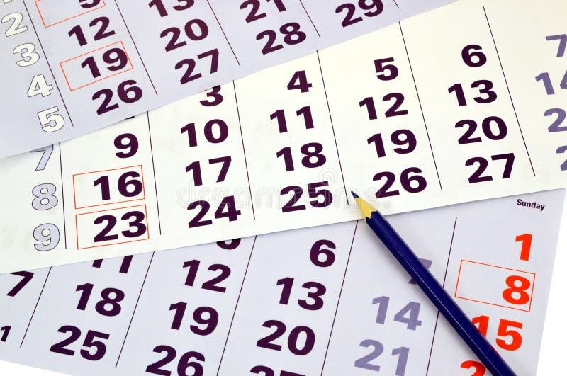 Månadkalender arkivfoto