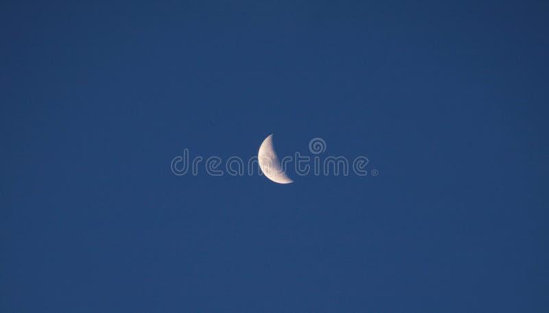 Måne i eftermiddagen royaltyfria foton