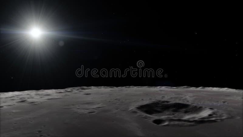 Måne i yttre rymd, yttersida Högkvalitativt upplösning, 4k Beståndsdelar för denna bild som möbleras av NASA fotografering för bildbyråer