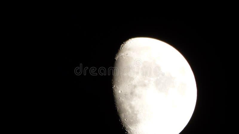 Måne luna, moonligh arkivbilder