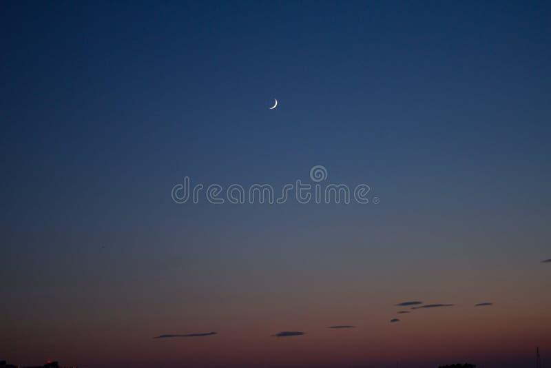 Måne- och himmellandskap arkivfoton