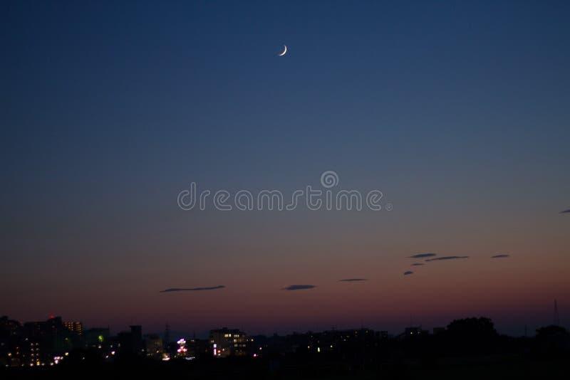 Måne- och himmellandskap royaltyfria foton