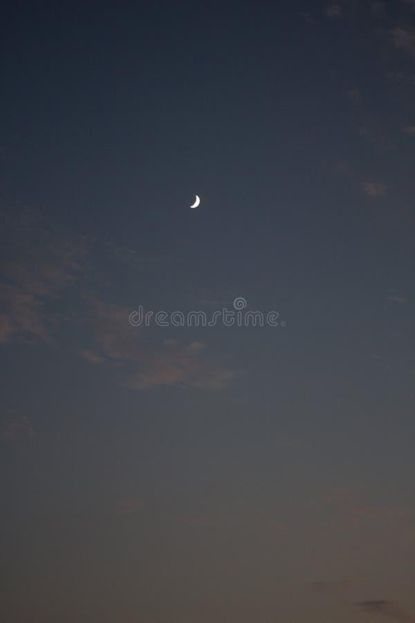 Måne- och himmellandskap royaltyfria bilder
