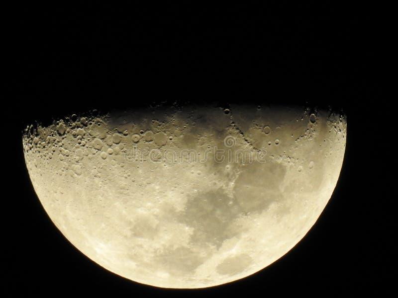 Måne på aftonen royaltyfri foto