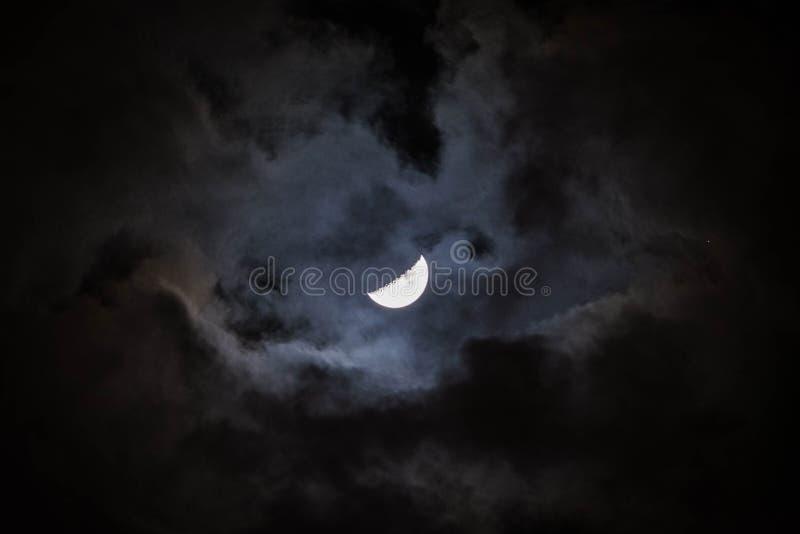 Måne på Yucatan fotografering för bildbyråer