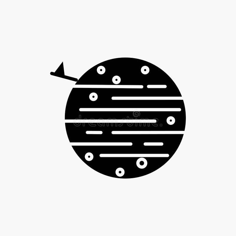 måne planet, utrymme, squarico, jordskårasymbol Vektor isolerad illustration vektor illustrationer