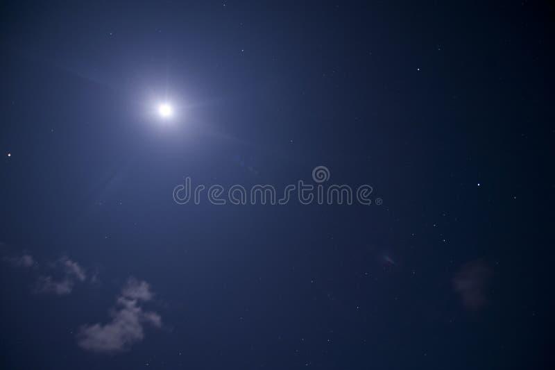 Måne & stjärna arkivbild