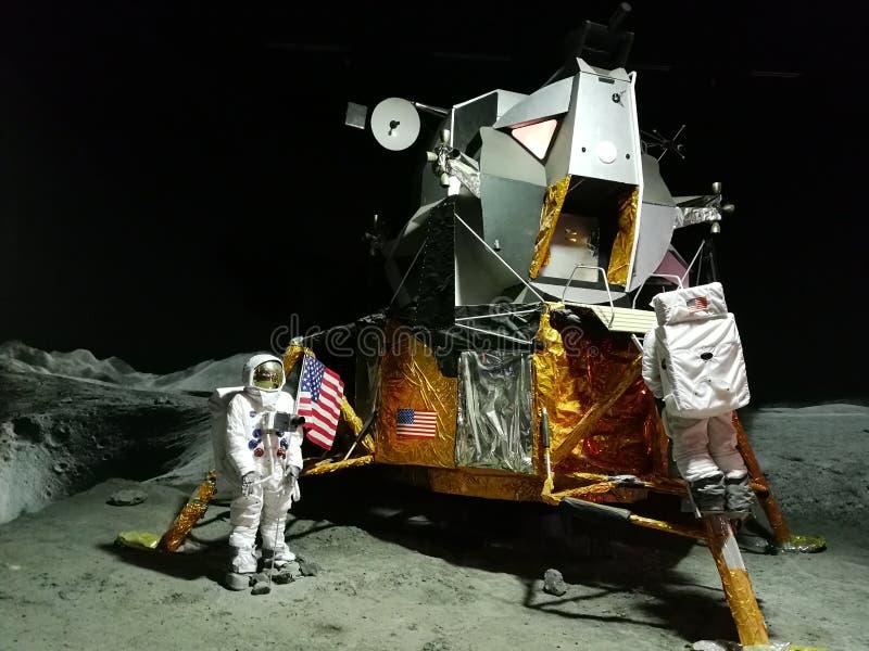 Månelandning royaltyfria bilder
