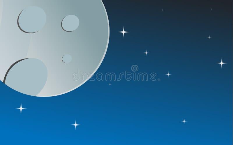 Månen och stjärnorna arkivfoton
