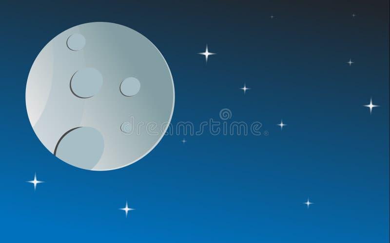 Månen och stjärnorna arkivfoto