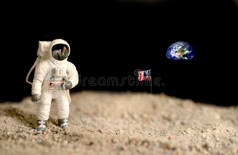 Måneutforskning royaltyfri foto