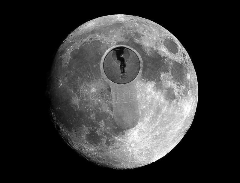 Måneutforskning som upptäcker dess hemligheter royaltyfria foton