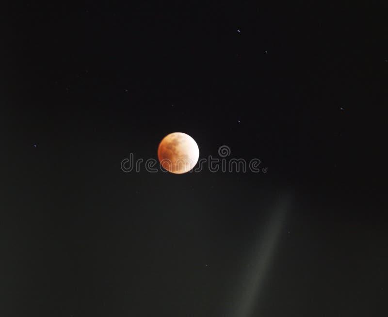 Månförmörkelse förmörkelse av månen arkivbilder