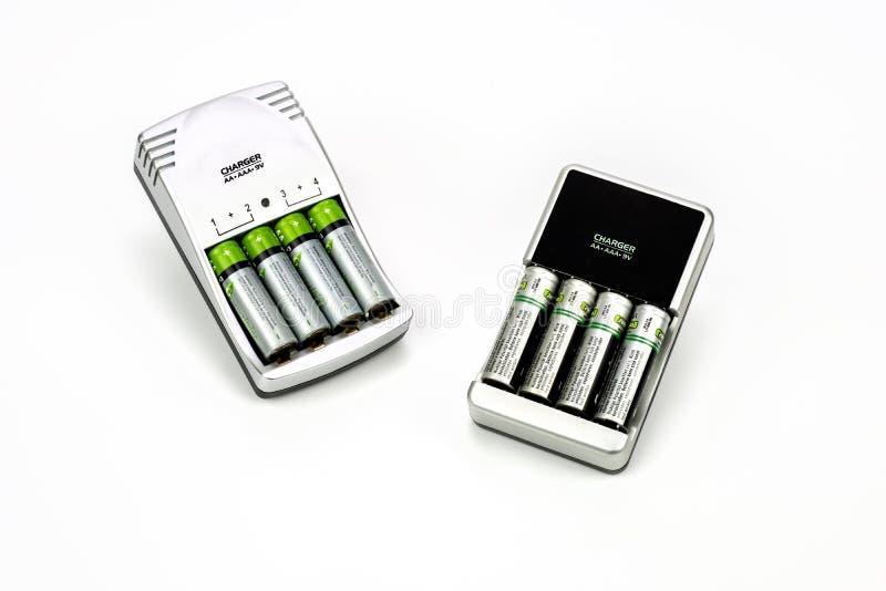 Mång- batteriuppladdare royaltyfri fotografi
