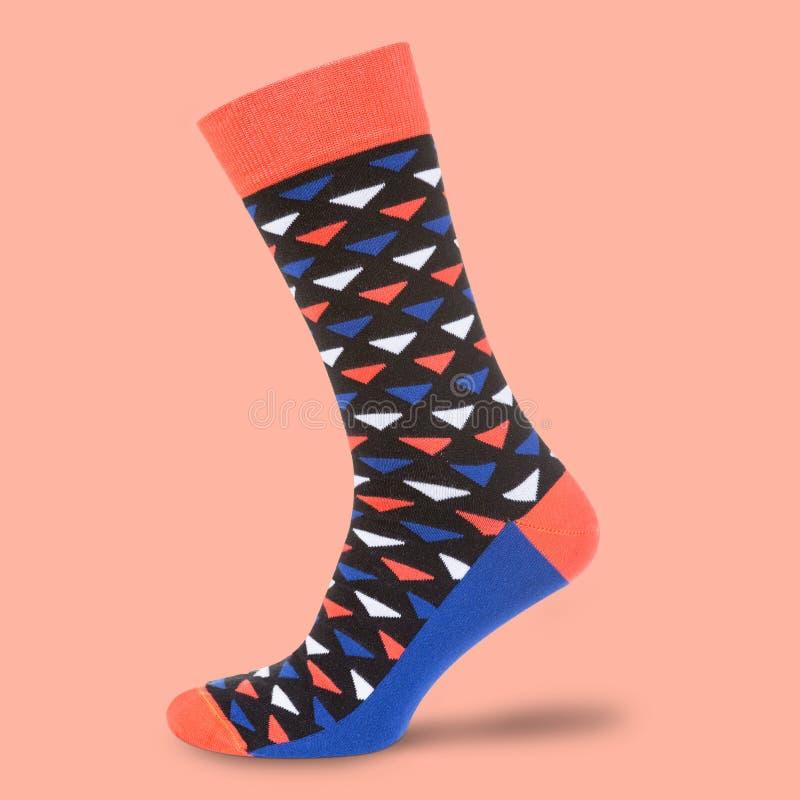 Mång--färg sockor på punchy bakgrund för pantone, begrepp, isolat arkivbild